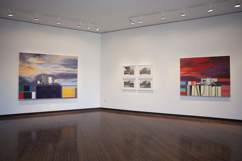 "Utopian Structures (2007 - Present) Installation View: ""Julie Lagsam: Revisiting Paradise"" @ Suny Purchase"