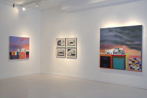 "Utopian Structures (2007 - Present) Installation View: ""Tomorrow-land""@ 532 Gallery Thomas Jaeckel"