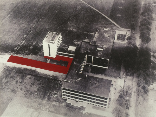 Drawings Gropius Series Aerial Bauhaus View #1