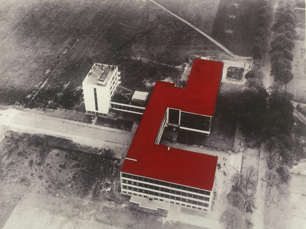 Drawings Gropius Series Aerial Bauhaus View #4