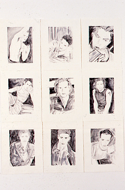 Hunks (1997) 9 monotypes on paper