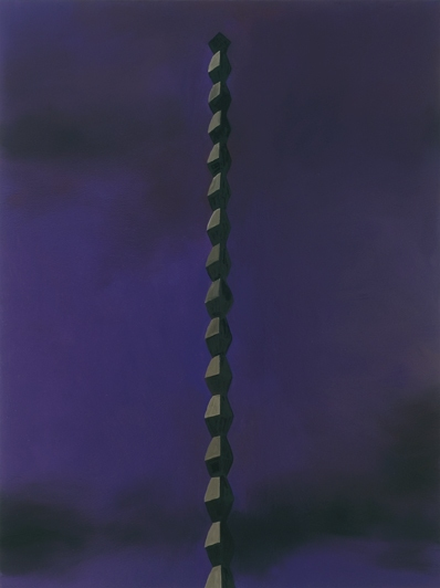 Sculpture Paintings + Drawings (2004) Brancusi Landscape (Endless Column, Purple)