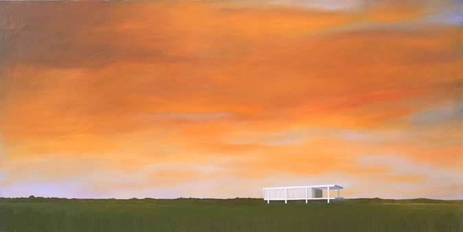 House Paintings + Drawings (1998 - 2002) Mies Landscape (Fansworth House)
