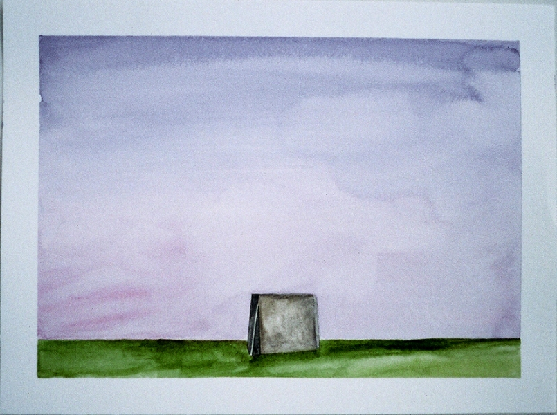 Sculpture Paintings + Drawings (2004) Serra Landscape (One Ton Prop, Color Study, Purple)