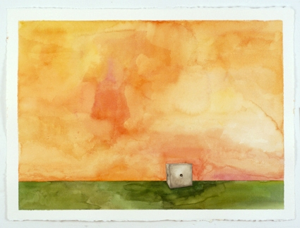 Sculpture Paintings + Drawings (2004) Winsor Landscape (Drilled Piece, Color Study, Orange)