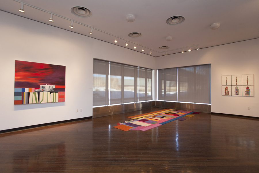 "Floor Plans (2011 - Present) Installation View: ""Julie Langsam: Revisiting Paradise"" @ Suny Purchase"
