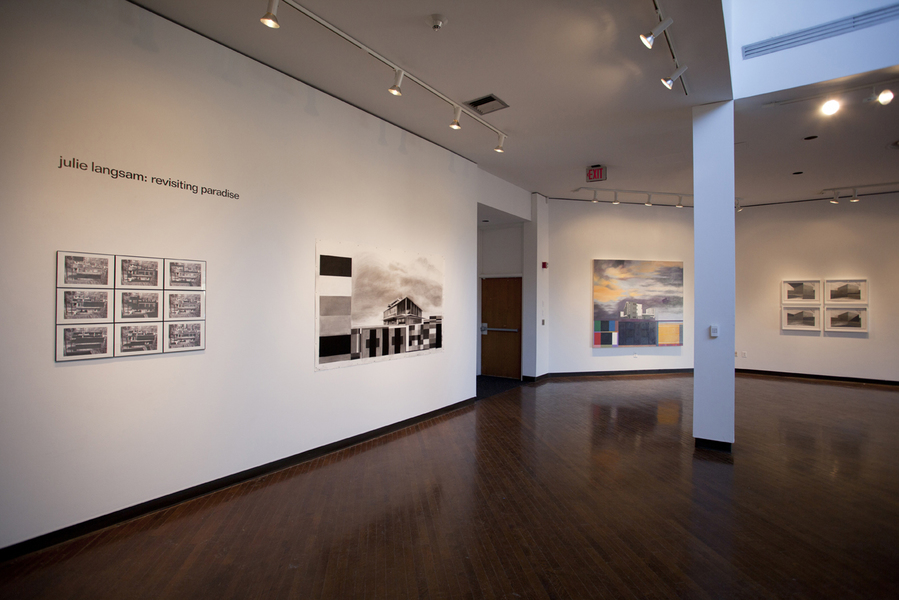 "Drawings  Installation View: ""Julie Langsam: Revisiting Paradise"" @ Suny Purchase, NY"