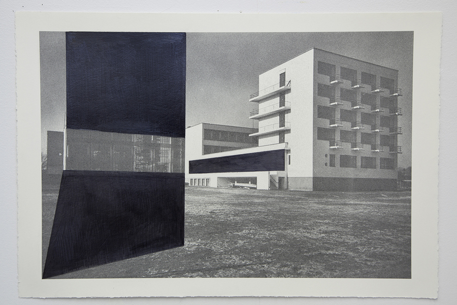 Drawings Gropius Series: Bauhaus, View #1