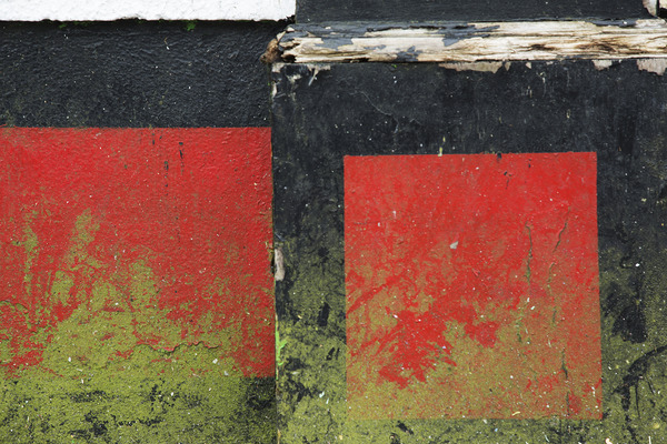 Architectural fragments Red Squares