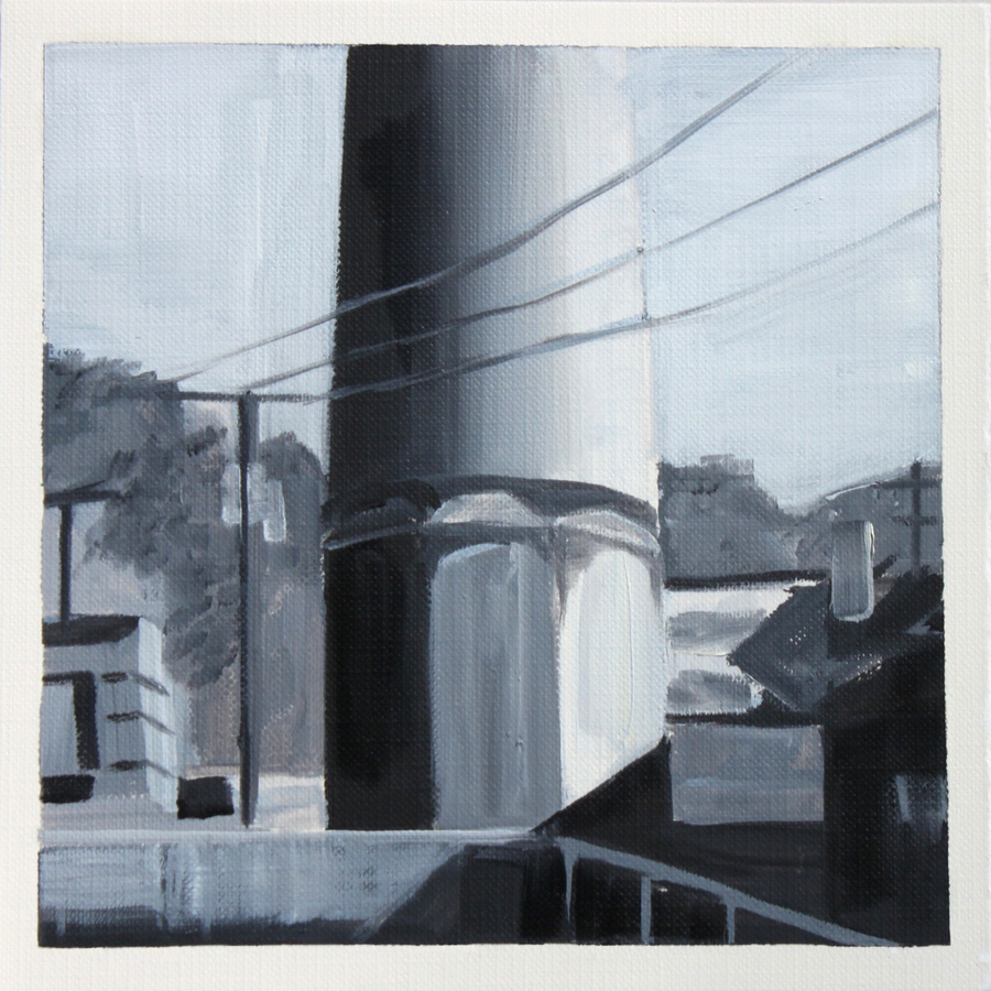 Julie Weaver Smoke Stacks Oil on Canvas