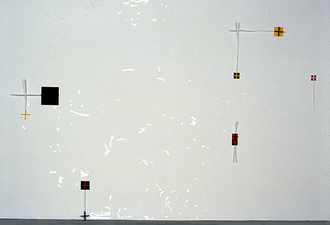 Kaare Rafoss Painted Installation, 1991 - 1992 Acrylic paint, wood sticks, mylar