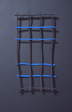 Kaare Rafoss Painted Installation, 1991 - 1992 Acrylic and Wood Sticks