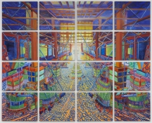 KANISHKA RAJA Against Integration 2010 oil on 16 panels