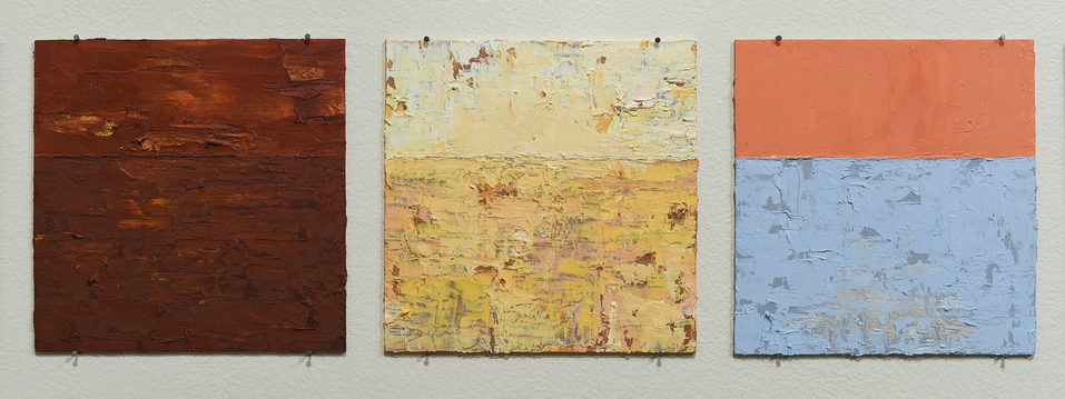 Karen Owsley Nease Horizon Series oil paint on wood panels