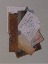 Karen V. Neems Collage book spine, paper, photograph
