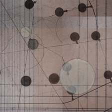 Karen V. Neems Spatial Choreography drawing and photocollage