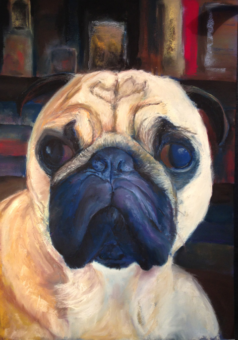 Karen Schlansky  Animal paintings pastel