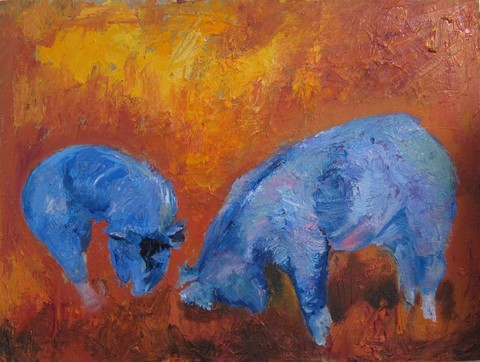 Karen Schlansky  Animal paintings oil