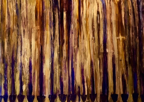 The Purple Hen Paintings| Karen Schlansky Abstract and Still Life Mixed media on cold pressed paper