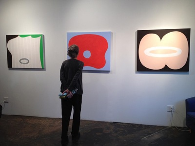 "Installation view, ""Karen Schifano: Paintings and Works on Paper"""