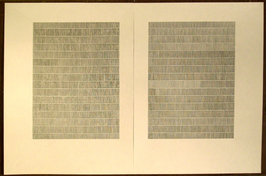 Laid Line Drawings, large (2007-08) Untitled (Manuscript)