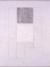 Agnes Martin Obituary Project (2005-) graphite and charcoal on vellum