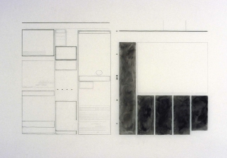 Agnes Martin Obituary Project (2005-) pencil and charcoal on mylar
