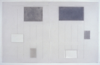 Agnes Martin Obituary Project (2005-) mixed media on vellum