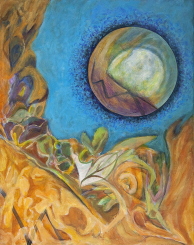 Inner Space acrylic on canvas