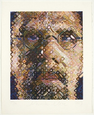 K5 EDITIONS LLC Chuck Close Wood block print on hand made Japanese paper.
