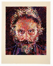 K5 EDITIONS LLC Chuck Close Wood Cut printed on hand made Japanese paper.