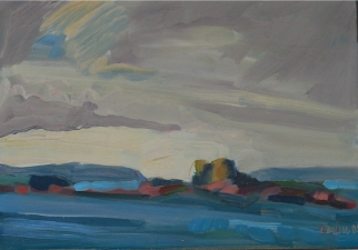 Kate Emlen Painting: 2007 and earlier Oil on panel