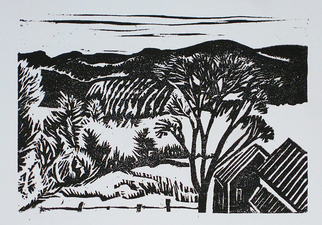 Kate Emlen Greeting cards woodcut