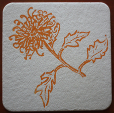 Kate Emlen Coasters linoleum cut