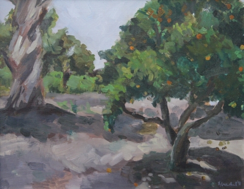 KATE DOSS Early Work oil on canvas