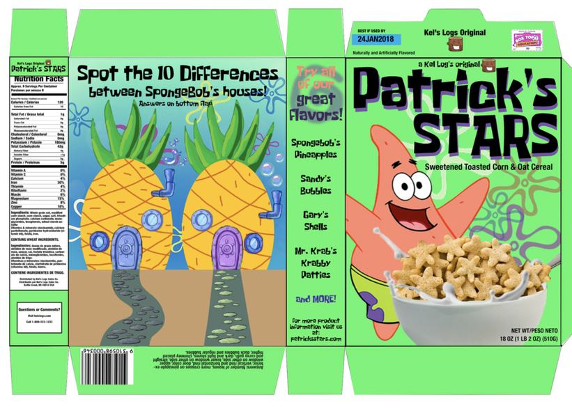 Digital Cereal Box Design