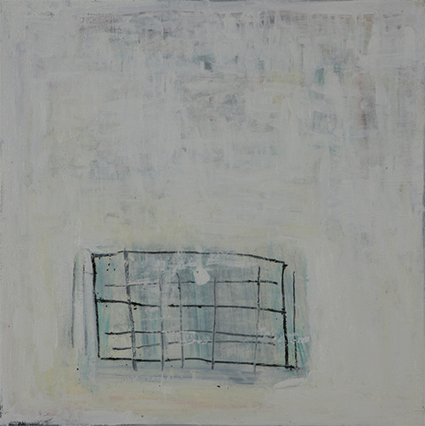Katherine Parker Small Paintings oil  and charcoal on canvas