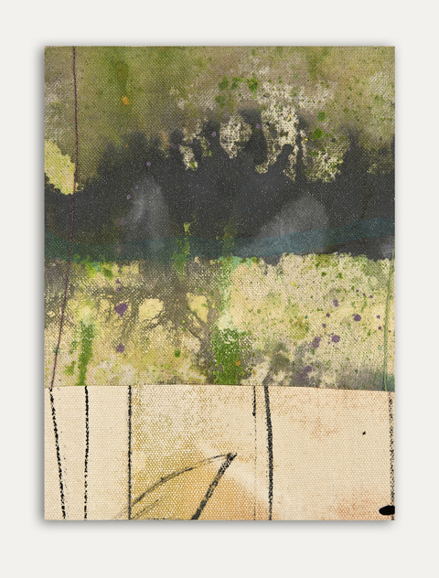 Katherine Kerr Allen Small Works Gallery Acrylic Pigments on Cotton Sail Cloth, Thread, Mounted on Board