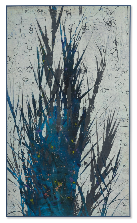 Katherine Kerr Allen Large Works Gallery Acrylic on Silk with Machine Stitching