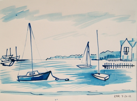 Kathleen A. Raymond Nantucket/Works on Paper Ink