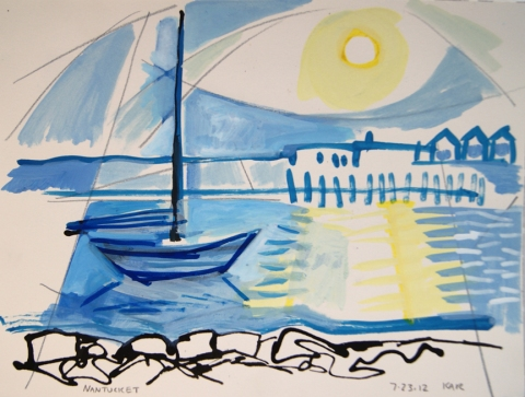 Kathleen A. Raymond Nantucket/Works on Paper Gouache & Ink