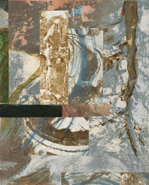 KATHRYN ELIZABETH GREENWALD Return to Water Monotype and Collage