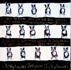 kathy beynette jellybean mixed media on canvas
