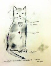 kathy beynette cats and dogs graphite on paper