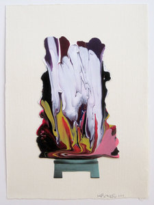 KATHY BUTTERLY Works on Paper nail polish and collage