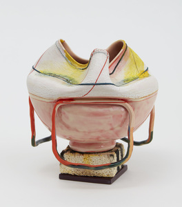 "KATHY BUTTERLY ""Yellow Haze"" (2021) Clay, Glaze, Fire brick"