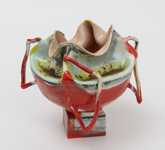 "KATHY BUTTERLY ""Yellow Haze"" (2021) Clay, Glaze"