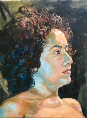 Kathy Calhoun Portraits oil on canvas