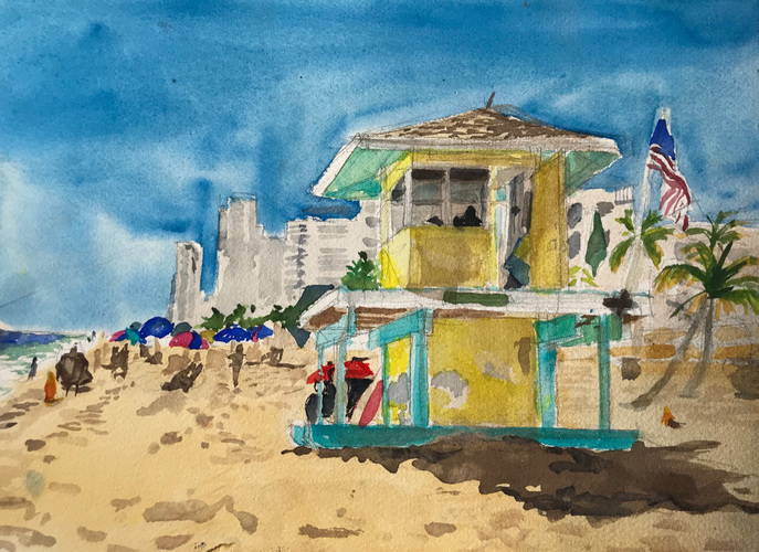 Kathy Calhoun Recent Watercolors Watercolor
