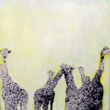 KATHY FEIGHERY Animal Series Acrylic and Charcoal on Canvas